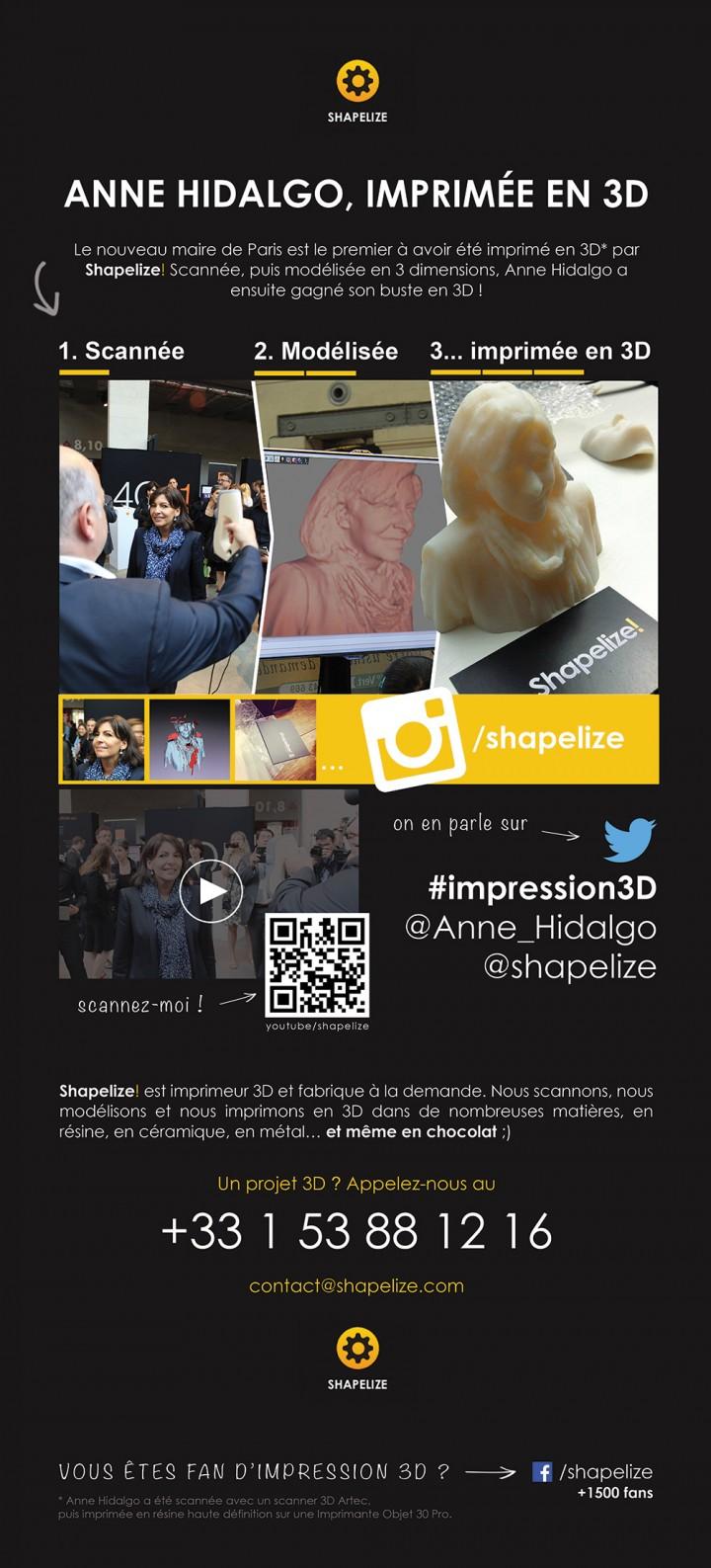 infographie impression 3d anne hidalgo shapelize