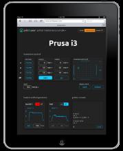 Interface WEB PrintToPeer sur iPad