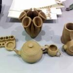 objets imprimés en 3D avec du filament de paille