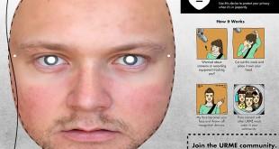URME réplique de visage imprimée en 3DA
