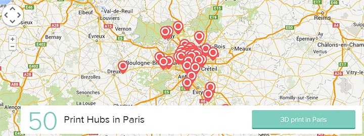3DHubs carte Paris