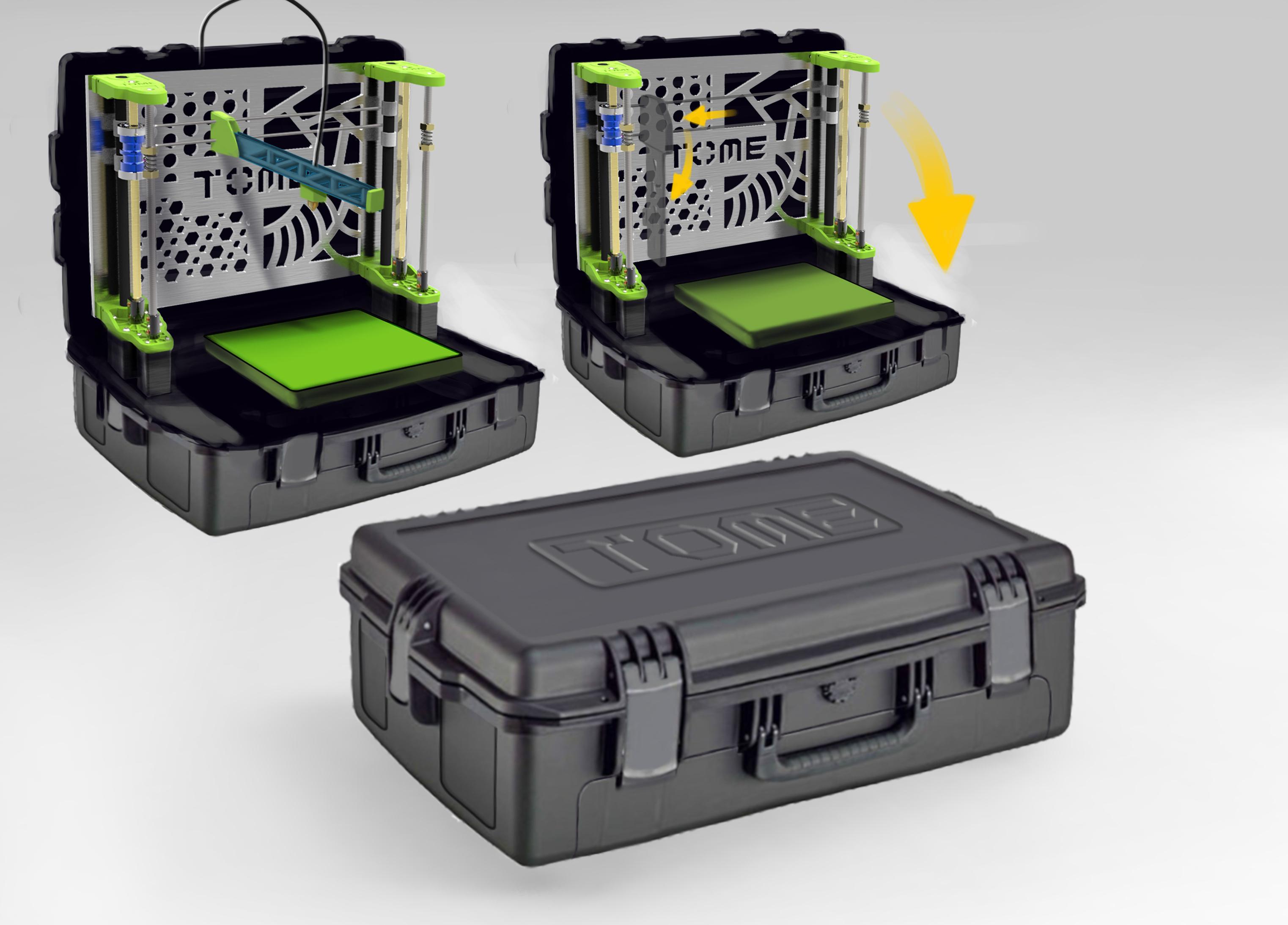 tome l 39 imprimante 3d portable autonome. Black Bedroom Furniture Sets. Home Design Ideas
