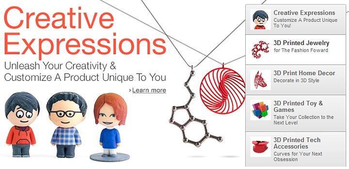 impression 3D en ligne Amazon 3D Printing Store