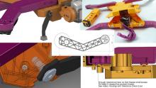 Châssis du drone AirDog imprimé en 3D.