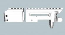 Modèle 3D du pistolet Ruger Charger imprimé en 3D