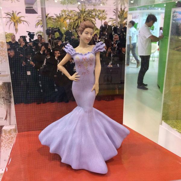 Statue de cire imprimée en 3D