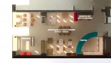 Plan 3D du local du premier Comptoir de l'imaginaire