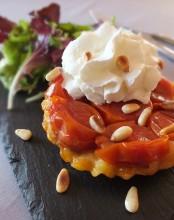 Tartelette tomate chantilly de basilic