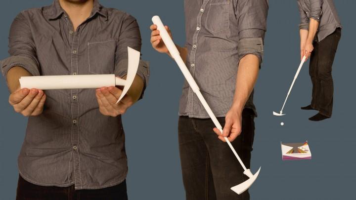 Test du putter imprimé en 3D
