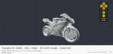 Moto Yamaha R1 en 3D