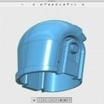 Modélisation 3D du casque de Daft Punk