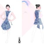 Esquisses de la robe SHIGO imprimée en 3D