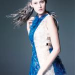 La robe SHIGO dessinée en 3D portée