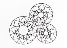 Géométries des tables luxueuses GEMMA