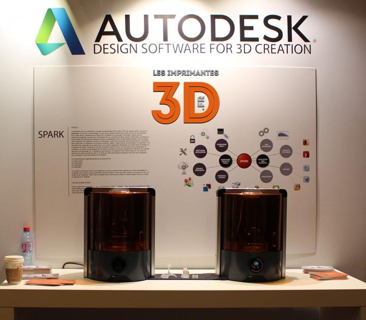 Stand Autodesk avec l'imprimante 3D Spark