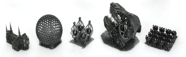 Objets imprimés à 100 microns