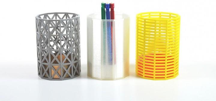 Pots à crayons imprimés en 3D