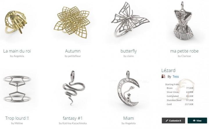 Place de marché de bijoux 3D