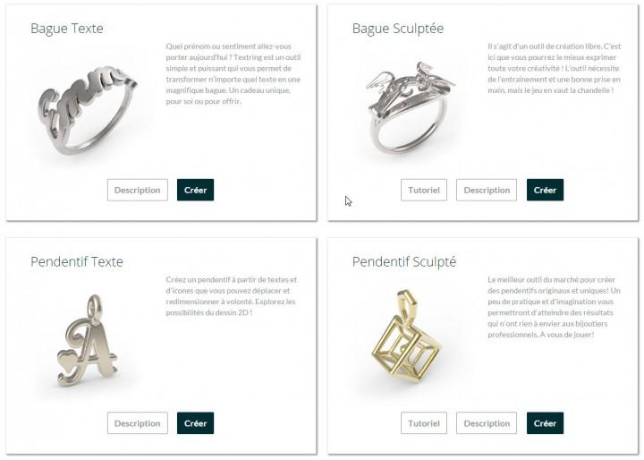 Choix de la base pour la création du bijou