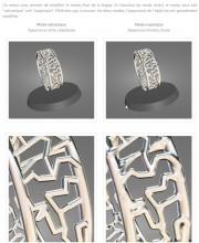 Modes de rendu des bijoux 3D