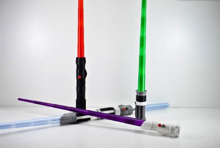 Collection de sabres lasers personnalisés de Star Wars VII imprimés en 3D
