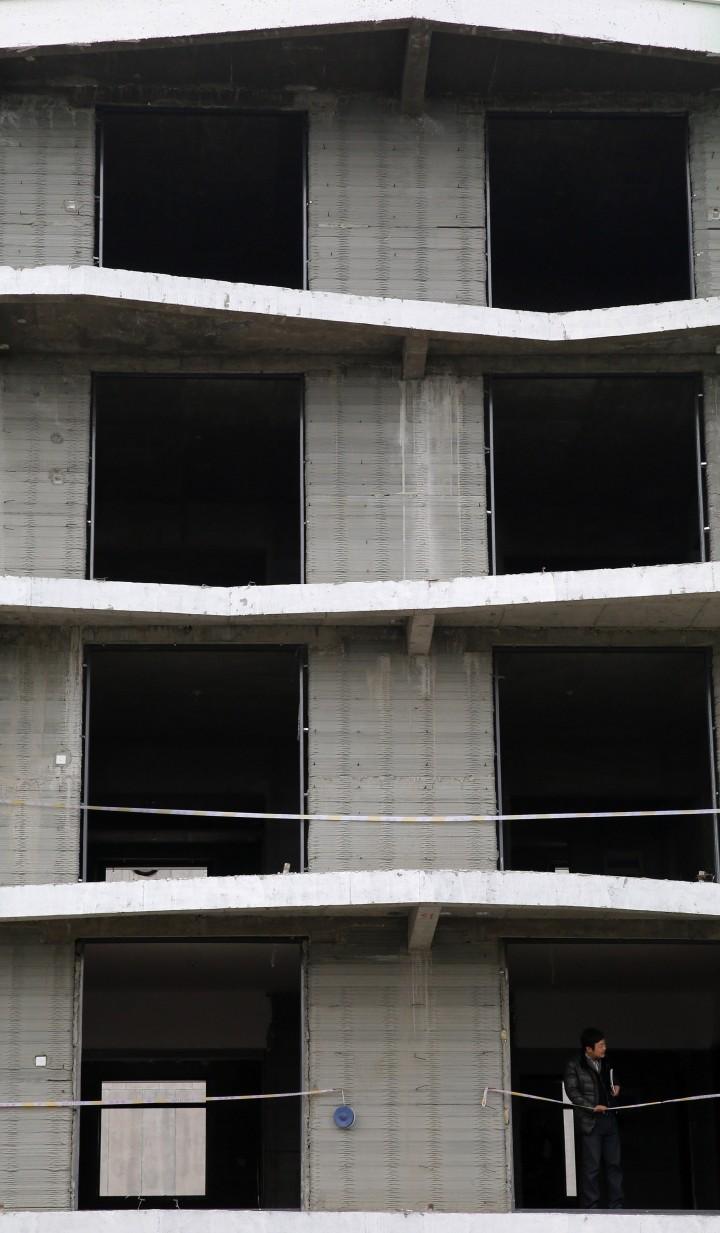 étages de l'immeuble imprimé en 3D