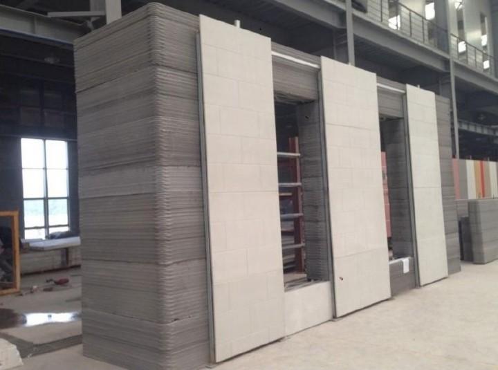 Assemblage de l'immeuble imprimé en 3D