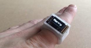 Bague connectée imprimée en 3D