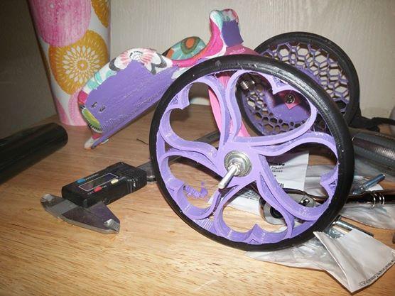 Prototype de panier à grandes roues