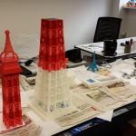Sommet de la tour Eiffel imprimée en 3D