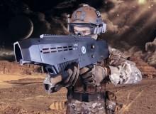 Tirer avec un pistolet à bille imprimé en 3D sur la Lune
