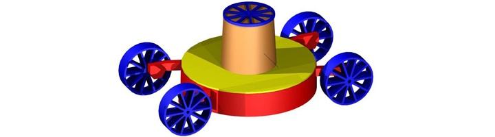Tondeuse modélisée en 3D