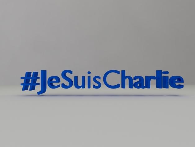 Hashtag #jesuischarlie en 3D