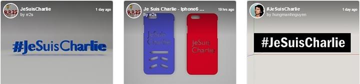 jesuischarlie Charlie Hebdo imprimante 3D