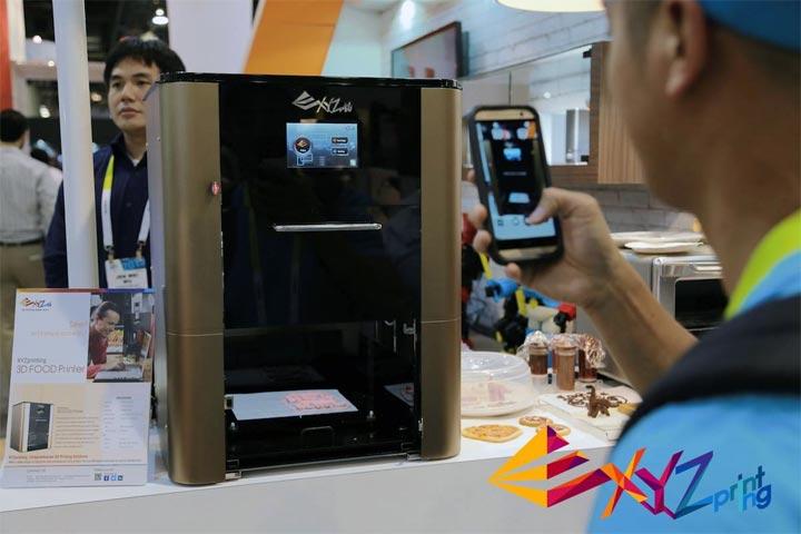 photo imprimante 3D comestible xyzprinting food printing