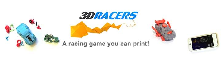 3DRacers jeu video smartphone voiture imprimée en 3D