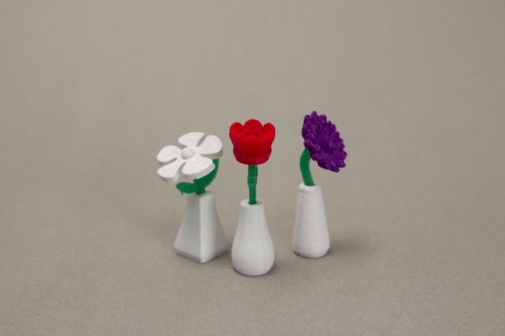 Petites fleurs imprimées en 3D pour la Saint Valentin