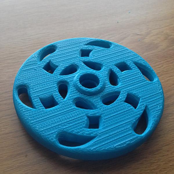 Roue de roller imprimée en 3D