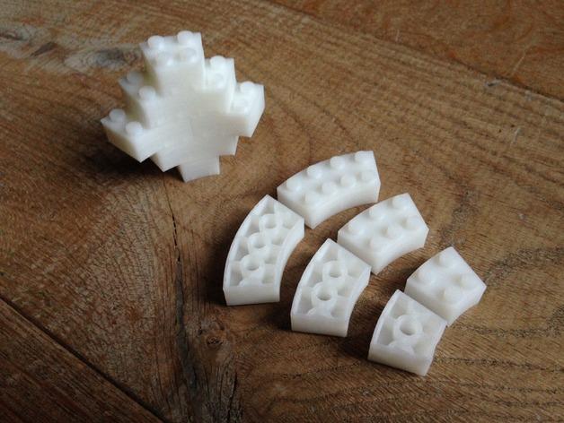 Briques de Lego incurvées
