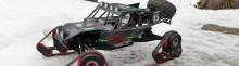 voiture radiocommandée chenilles neige imprimees en 3D