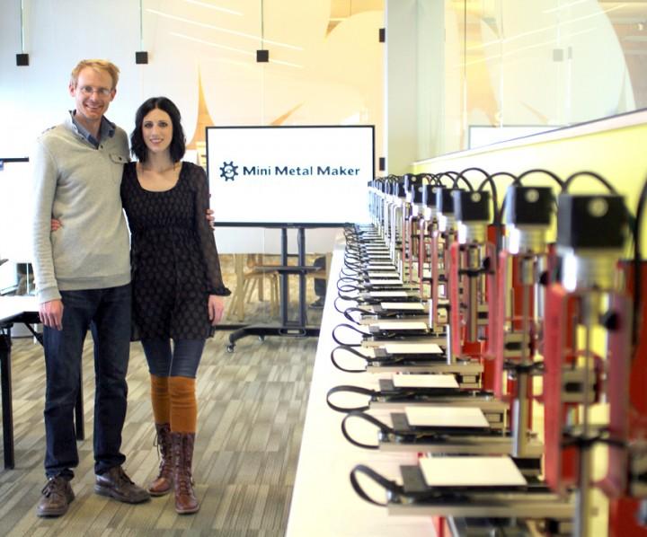 David et Lindsay Hartkop, créateurs de la Mini Metal Maker