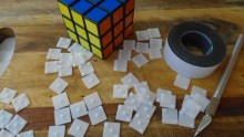 Fabrication du Rubik's Cube en braille