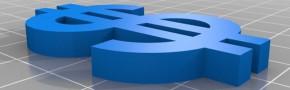 Dollar imprimé en 3D