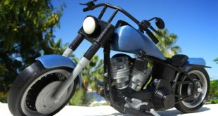 photo moto Harley Davidson Fat Boy miniature imprimée en 3D
