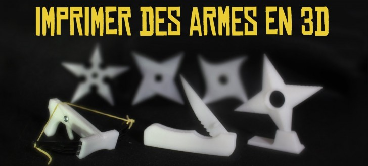 Expérience Imprimer des armes en 3D