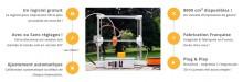Fonctions de l'imprimante 3D Discovery200