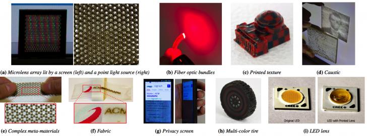 Différents objets imprimés avec la MultiFab