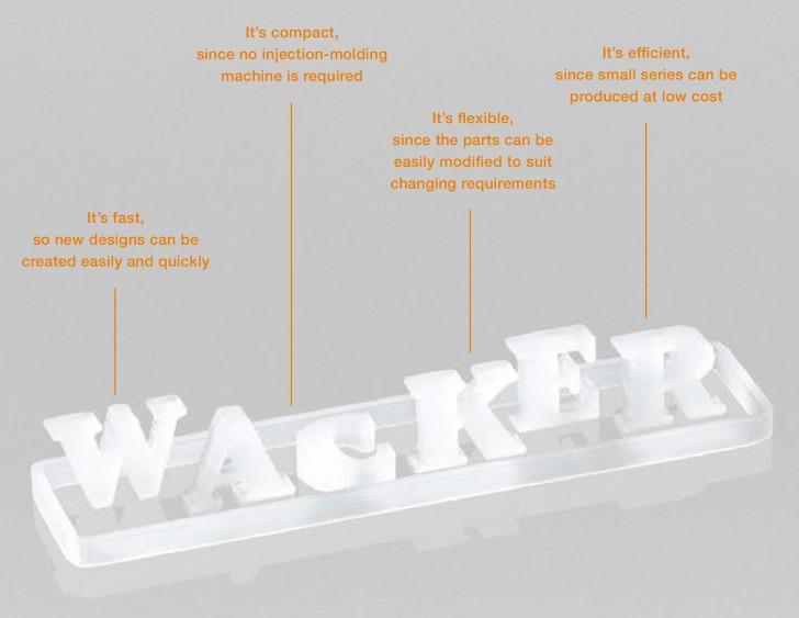 Propriétés de l'impression 3D silicone WACKER