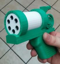Gun 6 coups imprimé en 3D