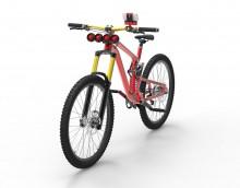 L'Aerocharge monté sur un vélo